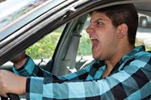 ser agresivo al volante