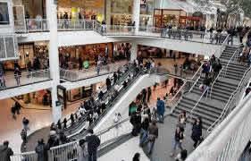 agorafobia en un centro comercial