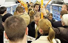 claustrofobia en el metro