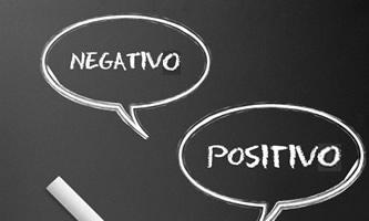 pensamientos negativos y positivos