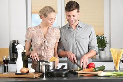 síndrome del ama de casa cocinando